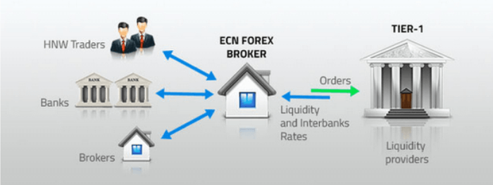 what are ecn forex brokers